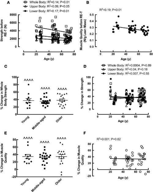 small resolution of the effects of age and 20 week whole body fully supervised resistance exercise training