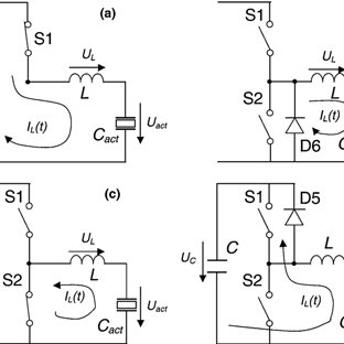 . Equivalent circuit for a piezoelectric actuator