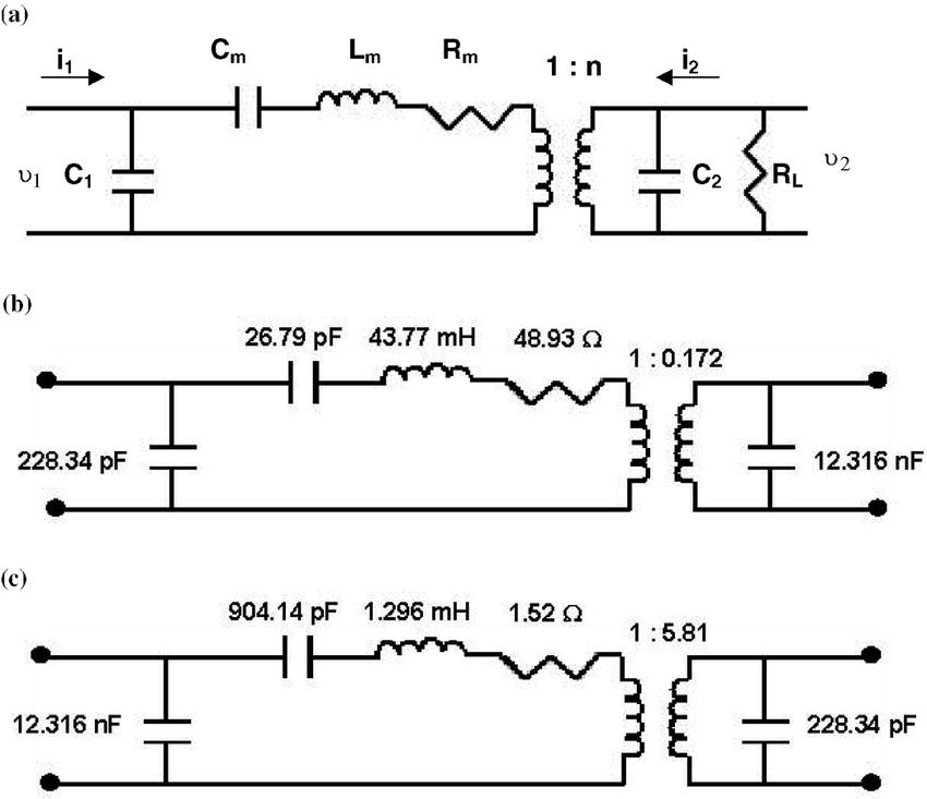 Equivalent circuit of the piezoelectric transformer
