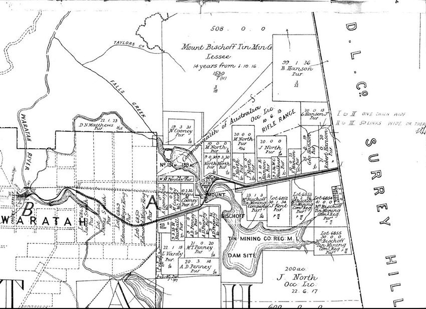 A section of the county chart placing the VDL Co's Surrey