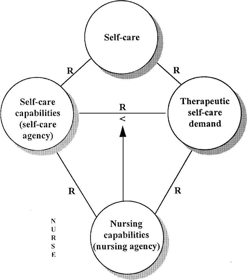 Conceptual model: Orem' s theory of self-care nursing. R