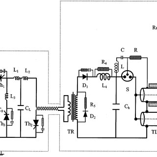 Schematic diagram of the high-voltage pulse generator and