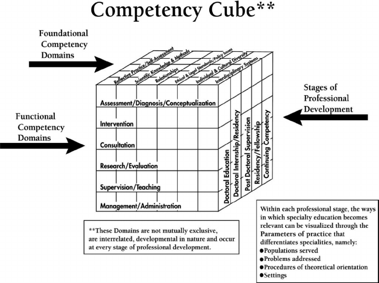 "The Cube Model of benchmark competencies. From ""A Cube"