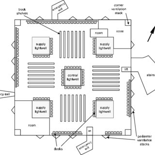 Typical floor plan, showing basic library layout and