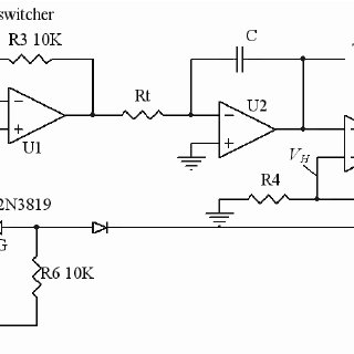 Voltage-controlled triangle signal generator circuit
