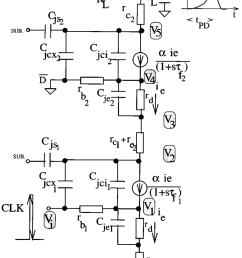 equivalent circuit used in delay model for a series gated cml based xor circuit [ 850 x 1101 Pixel ]