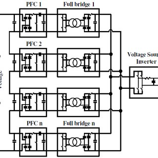 Circuit diagram of single phase power electronic