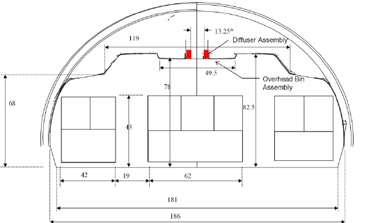 Schematic diagram of the cabin simulator (plan view and