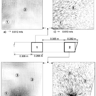Velocity fields developed during thermal stratification of