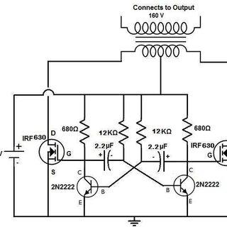 Circuit diagram of MOSFET based oscillatory circuit