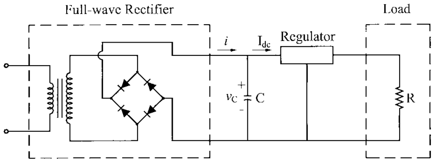 Full-wave rectifier circuit with constant current load