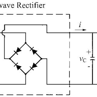 Full-wave rectifier circuit with resistive load