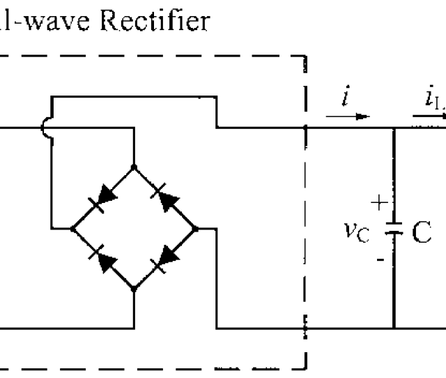 Full Wave Rectifier Circuit With Resistive Load