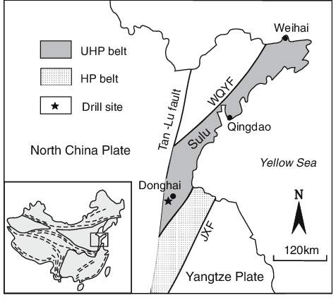 Simplified geological map of the southern Sulu UHP