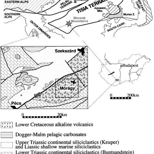 Schematic geological map of the Katharina Ring Complex