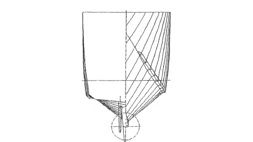 1: VWS series '89 catamaran hull form [Müller-Graf, 1993