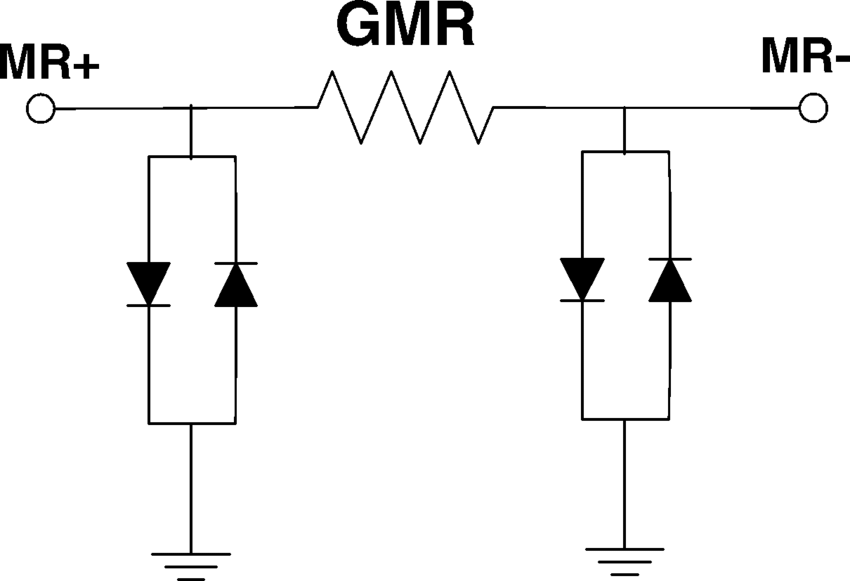 Diode protection circuit: two sets of back-to-back diodes