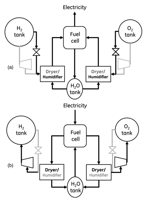 Top: The principle of the electrochemical process in a