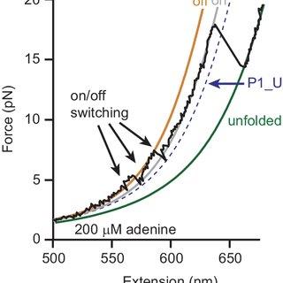 Force spectroscopy of add aptamer alone. (A) RNA