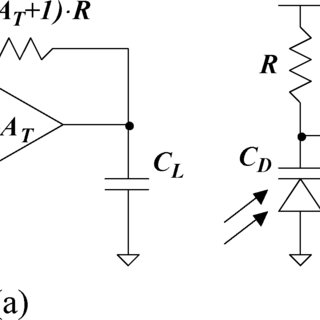 (a) Transimpedance amplifier topology. (b) Series