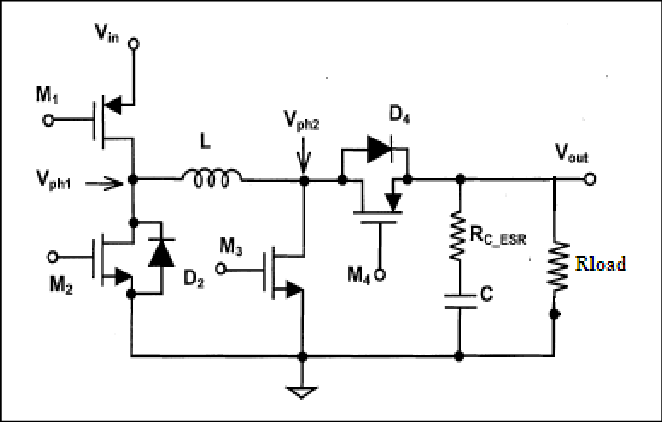 Noninverting synchronous DC/DC buck-boost converter