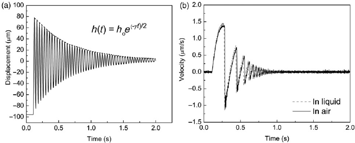 (a) Free oscillations of the pendulum–linear elastic wire