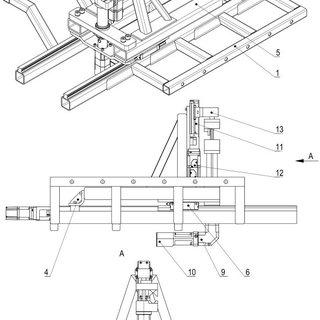 Roll feeder: 1-powered roll, 2-pressure roll, 3-case, 4