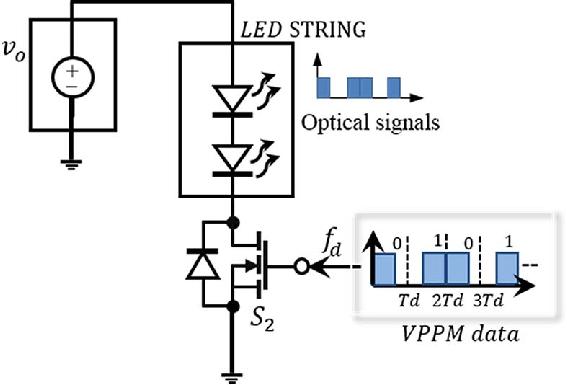 Block diagram of constant voltage fed dual-purpose LED