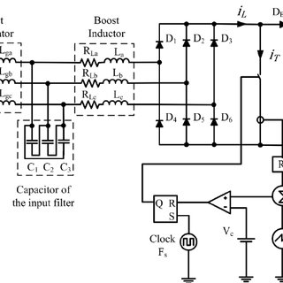 Three Phase Boost Rectifier in DCM with input filter and