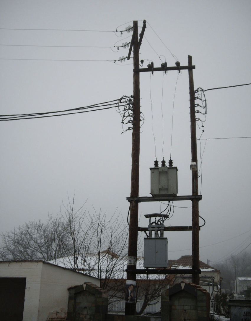 medium resolution of transformer protected by a surge arrester