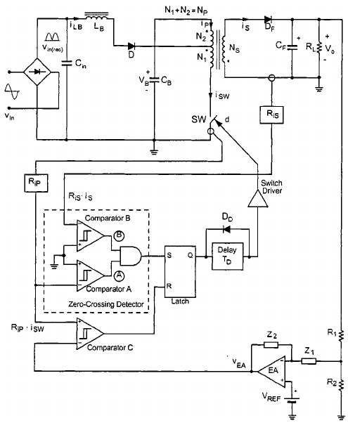 Power stage and control circuit of the proposed S ICS