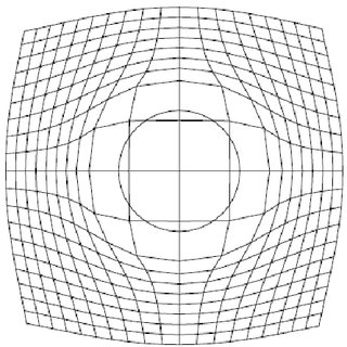 Distortions to an initial grid by variable-scale mapping