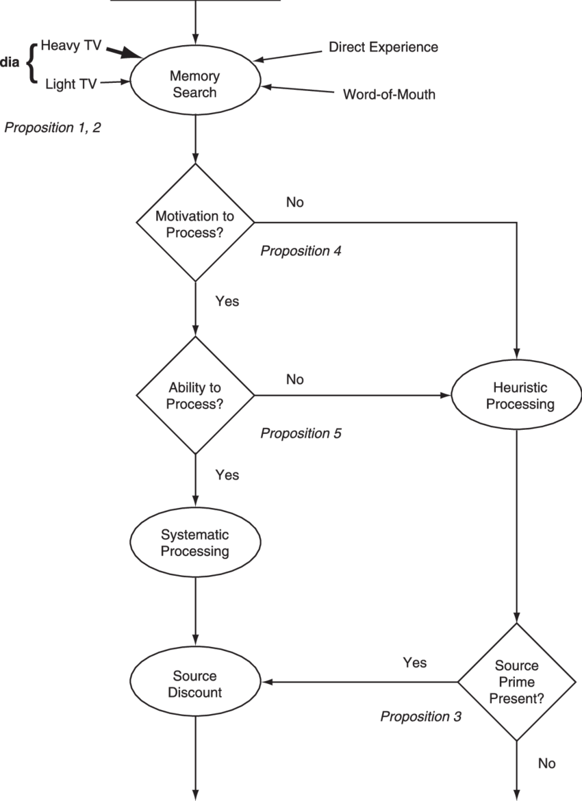 3 Flow Diagram of the Heuristic Processing Model of