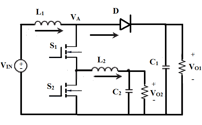 Integrated Dual Output Converter Circuit Diagram Fig.8