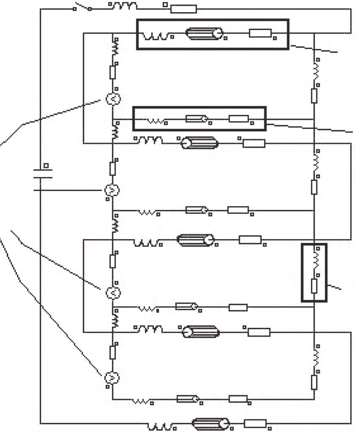 shows the external circuit diagram created in the finite