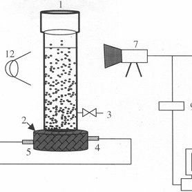 ⎯Schematic of the electroflotation cell and the equipment