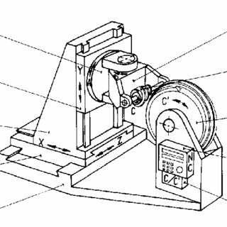 Scheme of the new grinding machine. Notation: 1. Bedplate