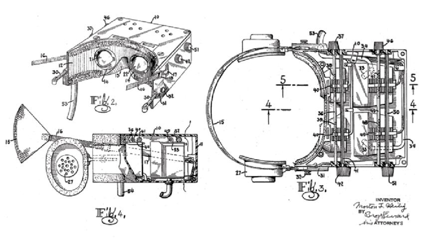 Morton Heilig, Telesphere Mask, 1960, Source: Wikimedia