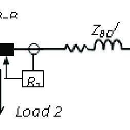 Equivalent circuit diagram of the single-line-to-ground