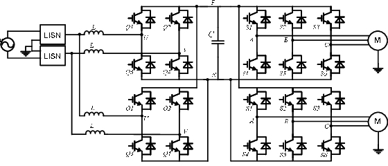 Multi-cell AC-DC-AC traction system topology A. Single