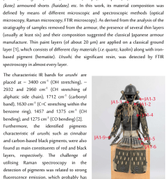samurai armour with marked locations of sampling  [ 850 x 1252 Pixel ]