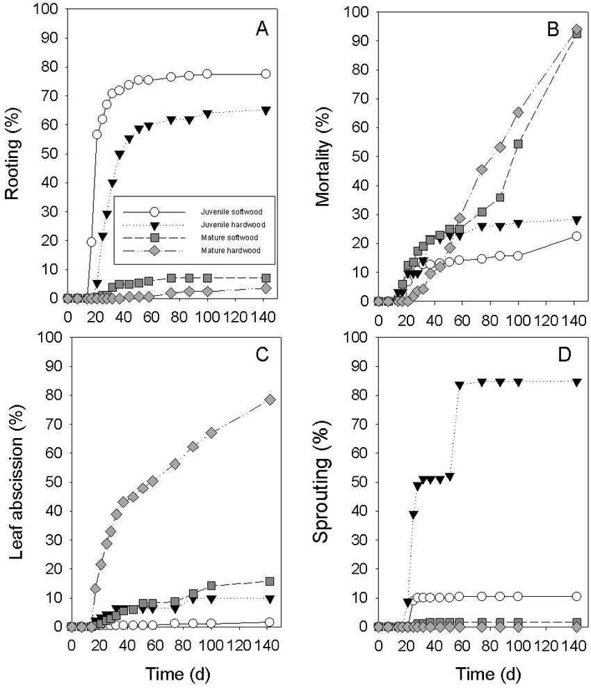 medium resolution of relationships between proportions of four types of prunus avium download scientific diagram