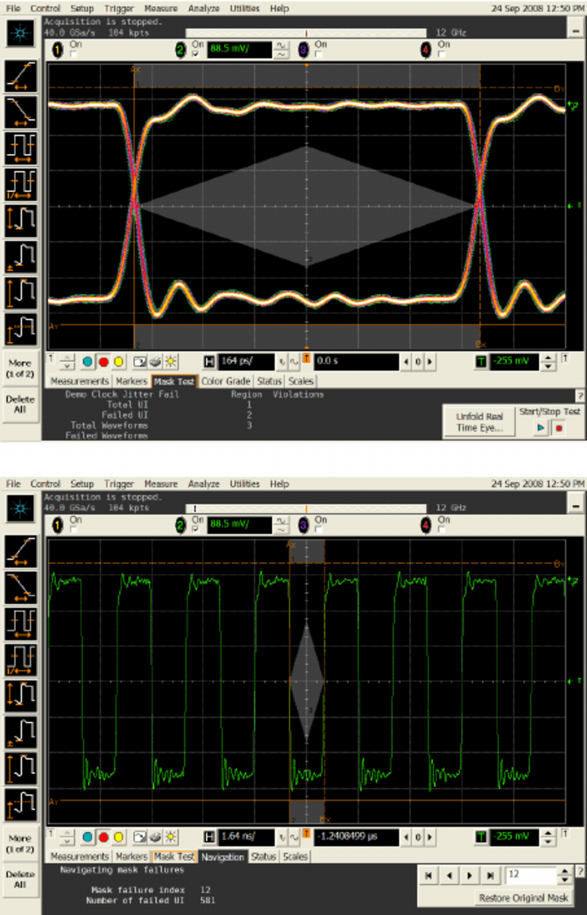 hight resolution of screenshots from the gui for a commercial oscilloscope the oscilloscope s gui is operated with a