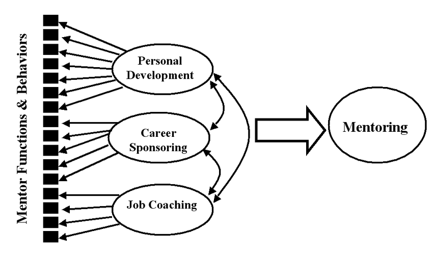 A model of the dimensions of mentoring encompassing three