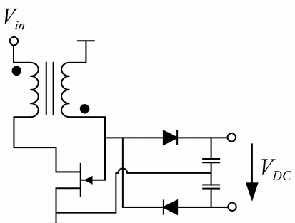 Schematic of the DC-DC converter containing an oscillator