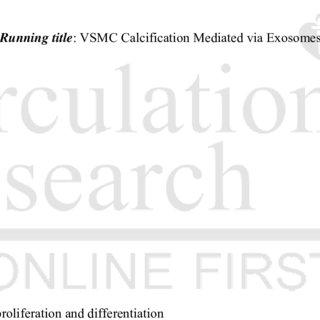 (PDF) 192 MODULATED EXOSOME SECRETION BY VASCULAR SMOOTH
