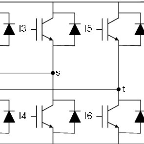 (a) Grid current flow and (b) inverter output voltage