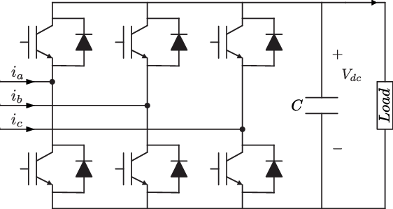 Electrical circuit of the three phase two level power
