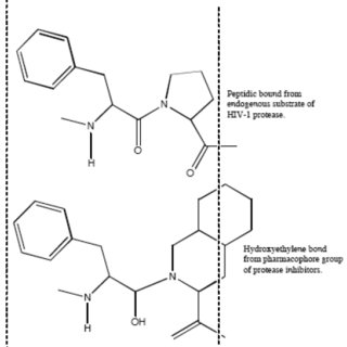 Mimetic action of hydroxyethylene bond from active group