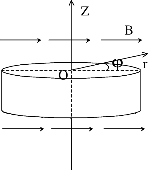 small resolution of the cylindrical coordinates of the disk pendulum